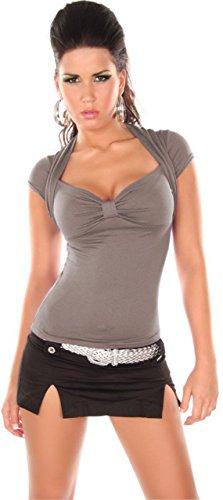 In-Style Damen Bolero-Shirt mit V-Ausschnitt Einheitsgröße cappuccino - 1