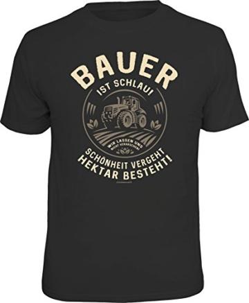 RAHMENLOS Original T-Shirt für den informierten Landwirt: Bauer ist schlau… Größe L, Nr.6144 -