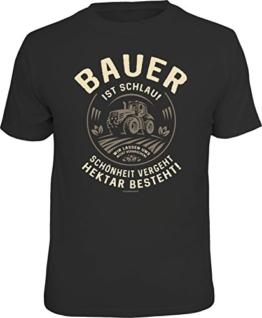 RAHMENLOS Original T-Shirt für den informierten Landwirt: Bauer ist schlau… Größe L, Nr.6144 - 1