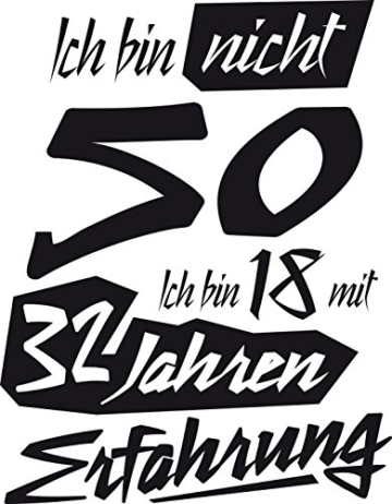 Tasse mit tollem Spruch Geschenkidee zum 50. Geburtstag | Ich bin nicht 50 Ich bin 18 mit 32 Jahren Erfahrung| Schöne Kaffee-Tasse von Shirtinator® - 4