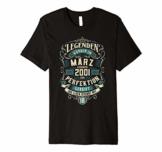 18. Geburtstag 18 Jahre Jahrgang 2001 März T-Shirt - 1