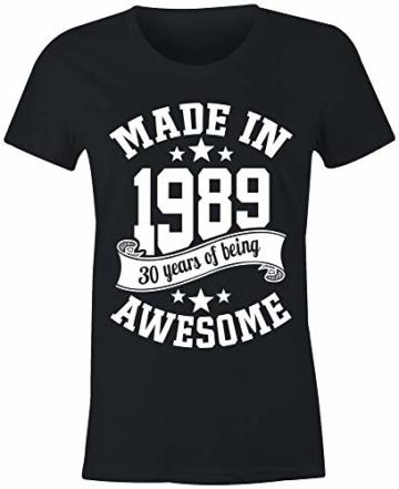 6TN Damen Im Jahre 1989 30 Jahre des Geburtstags T-Shirt - 2