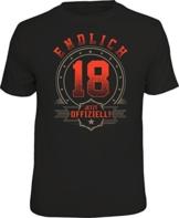 Das Geschenk T-Shirt zum 18. Geburtstag - Endlich volljährig - 1