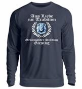 Shirtee AUS Liebe ZUR Tradition - GRÜNWALDER - Unisex Pullover -3XL-Oxford Navy - 1