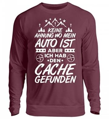 Shirtee Hochwertiger Unisex Pullover – Geocaching Wo Ist Mein Auto? – Caching – Geocacher – Cacher – Cache – Geocache – Geschenk -