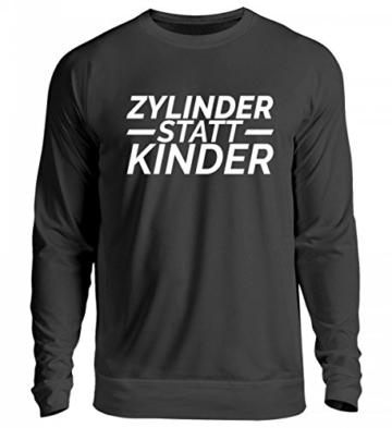 Shirtee Hochwertiger Unisex Pullover - Zylinder statt Kinder - 1