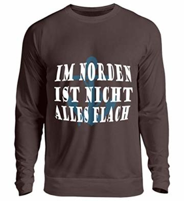 Shirtee Im Norden ist Nicht Alles flach Bauchdruck Plattdeutsch | Norddeutsch | Norden - Unisex Pullover - 1