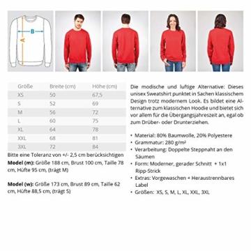Shirtee Mein Verein FÜR ALLE Zeit - SECHZIG - Unisex Pullover -M-Oxford Navy - 2