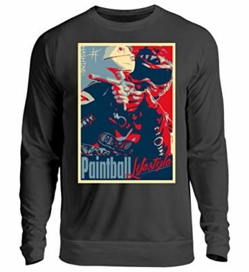Shirtee Paintball Lifestyle HashtagbySD - Unisex Pullover -S-Jet Schwarz - 1