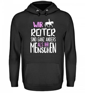 Shirtee Reiter Reiten Pferde Spruch Pullover Damen Wir Reiter Sind Ganz Anders Als Ihr Menschen Geschenk Pulli Pferdeliebhaber - 1