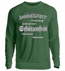Shirtee Schützenfest - Die geilste Jahreszeit - Unisex Pullover -L-Dunkelgrün - 1