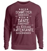 Shirtee Schwester,Tante, Patentante geschworen - Unisex Pullover - 1