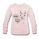 Spreadshirt Animal Planet Lama No Drama Llama Comic Frauen Bio-Sweatshirt von Stanley & Stella - 1