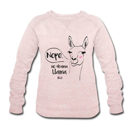 Spreadshirt Animal Planet Lama No Drama Llama Comic Frauen Bio-Sweatshirt von Stanley & Stella - 1