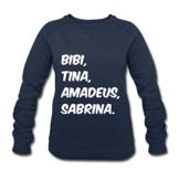 Spreadshirt Bibi Und Tina Amadeus Sabrina Typographie Frauen Bio-Sweatshirt von Stanley & Stella - 1