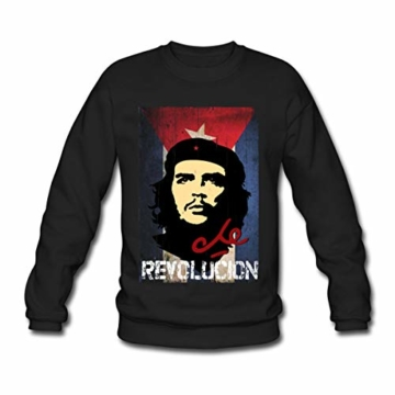 Spreadshirt Che Guevara Revolución Kubanische Flagge Männer Pullover - 1