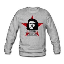 Spreadshirt Che Guevara Roter Stern Kommunismus Männer Pullover - 1