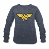 Spreadshirt DC Comics Justice League Wonder Woman Logo Frauen Bio-Sweatshirt von Stanley & Stella - 1