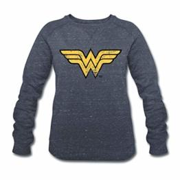 Spreadshirt DC Comics Justice League Wonder Woman Logo Frauen Bio-Sweatshirt von Stanley & Stella - 1