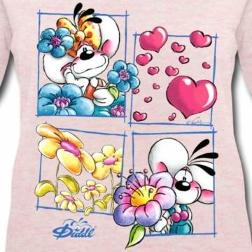 Spreadshirt Diddl Und Diddlina Sind Verliebt Frauen Bio-Sweatshirt von Stanley & Stella - 2