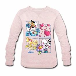 Spreadshirt Diddl Und Diddlina Sind Verliebt Frauen Bio-Sweatshirt von Stanley & Stella - 1