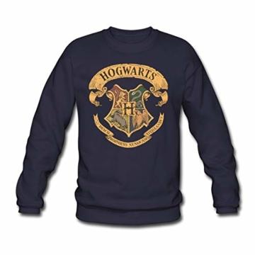 Spreadshirt Harry Potter Hogwarts Wappen Männer Pullover - 1