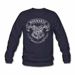 Spreadshirt Harry Potter Hogwarts Wappen Zeichnung Männer Pullover - 1