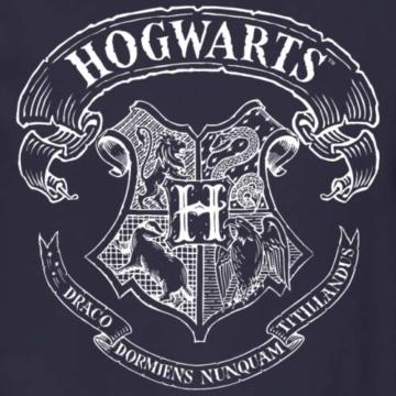 Spreadshirt Harry Potter Hogwarts Wappen Zeichnung Männer Pullover - 2