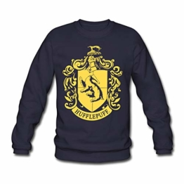 Spreadshirt Harry Potter Hufflepuff Wappen Männer Pullover - 1