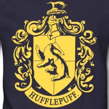 Spreadshirt Harry Potter Hufflepuff Wappen Männer Pullover - 2