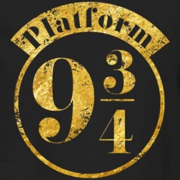 Spreadshirt Harry Potter Platform 9 3/4 Gold Männer Pullover - 2