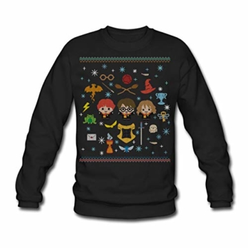 Spreadshirt Harry Potter Ugly Christmas Chibi Design Männer Pullover - 1