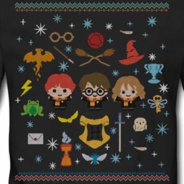 Spreadshirt Harry Potter Ugly Christmas Chibi Design Männer Pullover - 2