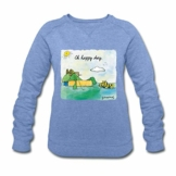 Spreadshirt Janosch Günter Tigerente Oh Happy Day Frauen Bio-Sweatshirt von Stanley & Stella - 1