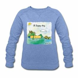 Spreadshirt Janosch Günter Tigerente Oh Happy Day Frauen Bio-Sweatshirt von Stanley & Stella - 1