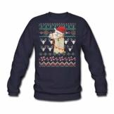 Spreadshirt Lama Alpaka Weihnachtspullover Männer Pullover - 1