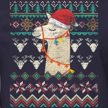 Spreadshirt Lama Alpaka Weihnachtspullover Männer Pullover - 2