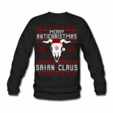 Spreadshirt Merry Anti-Christmas Ugly Sweater Männer Pullover - 1