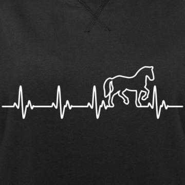 Spreadshirt Pferd Silhouette EKG Herzschlag Pferdesport Frauen Bio-Sweatshirt von Stanley & Stella - 2