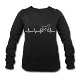 Spreadshirt Pferd Silhouette EKG Herzschlag Pferdesport Frauen Bio-Sweatshirt von Stanley & Stella - 1