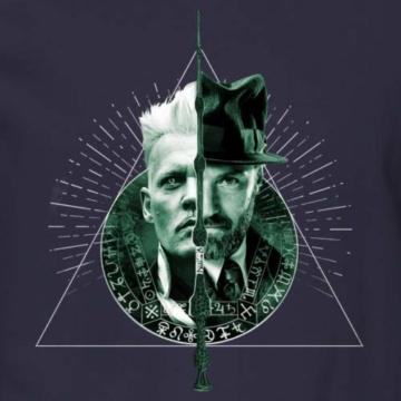 Spreadshirt Phantastische Tierwesen Grindelwald und Dumbledore Männer Pullover - 2