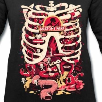 Spreadshirt Rick and Morty Anatomy Park Vergnügungspark Frauen Bio-Sweatshirt von Stanley & Stella - 2