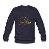 Spreadshirt Silhouette Mammut Line Art Männer Pullover - 1