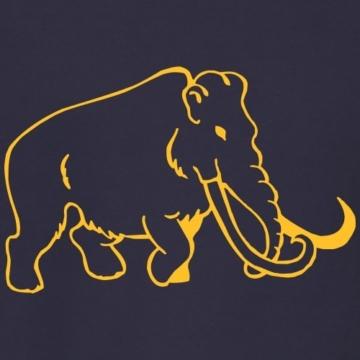 Spreadshirt Silhouette Mammut Line Art Männer Pullover - 2
