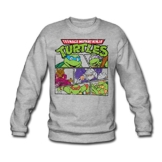 Spreadshirt TMNT Turtles Splinter Shredder Männer Pullover - 1