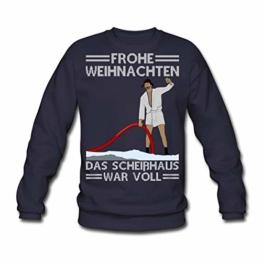 Spreadshirt Weihnachten Scheißhaus War Voll Ugly Christmas Männer Pullover - 1