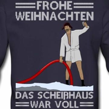 Spreadshirt Weihnachten Scheißhaus War Voll Ugly Christmas Männer Pullover - 2