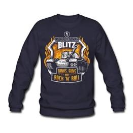 Spreadshirt World of Tanks Blitz Tanks Guns Rock'n'Roll Männer Pullover - 1