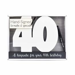 40. Geburtstag, besonderer Anlass, Gästebuch, 40. Geburtstagsgeschenk, 40. Party - 1