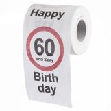 Goods & Gadgets Lustiges Fun Klopapier zum 60. Geburtstag Toilettenpapier Geschenkartikel Geburtstags-Dekoration 60 und Sexy! - 1